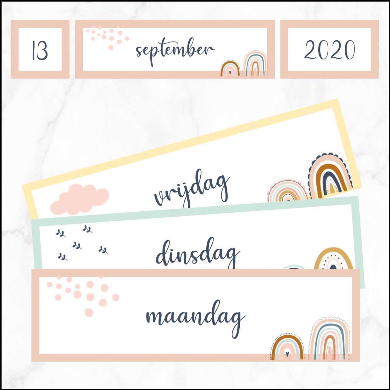 Kalender – thema regenbogen