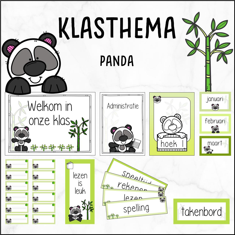 Klasthema panda