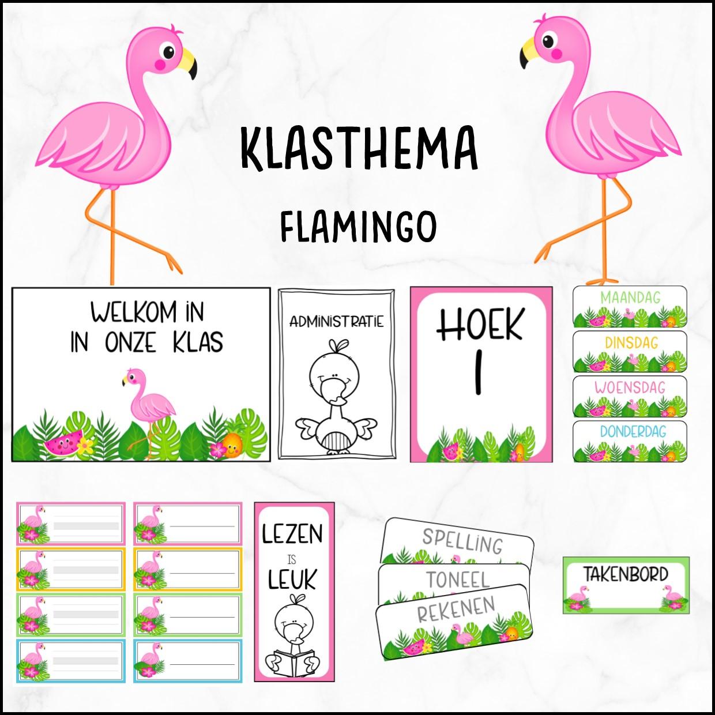 Klasthema flamingo