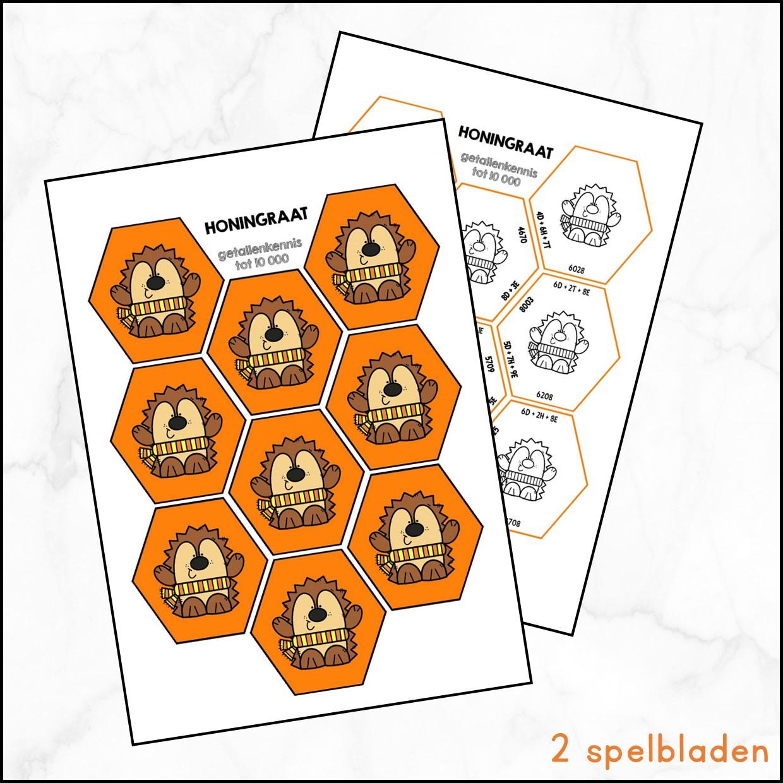 Honingraat getallen tot 10 000 – herfst