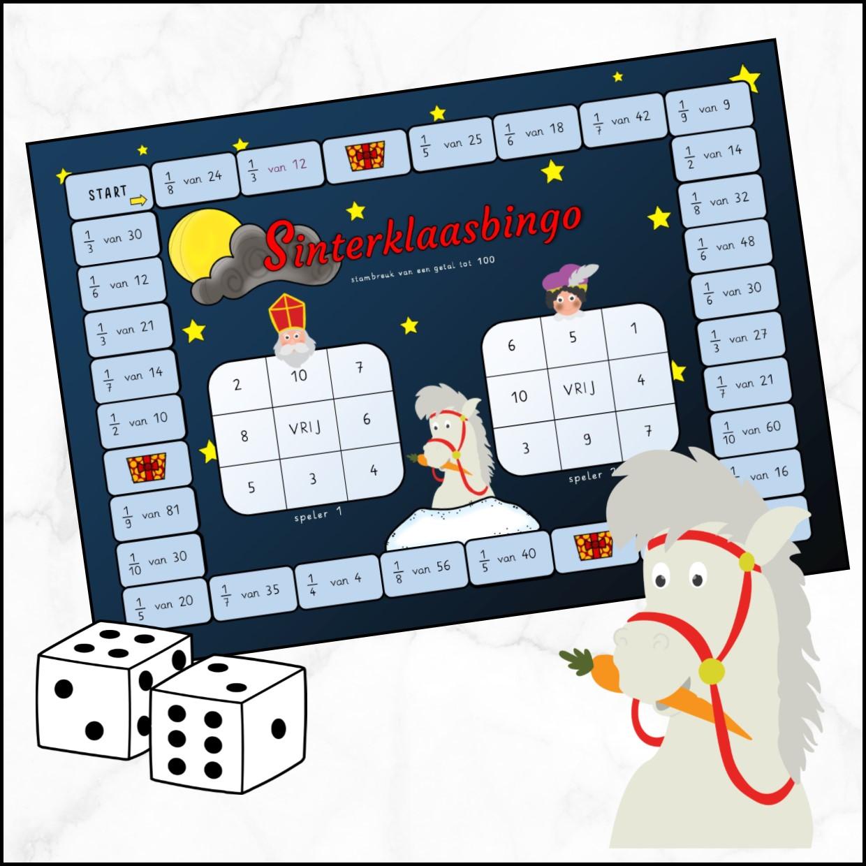 Sinterklaasbingo stambreuk van een getal tot 100