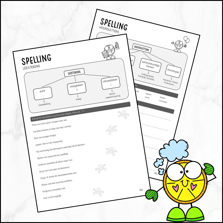 Werkblad hoofdletters en leestekens