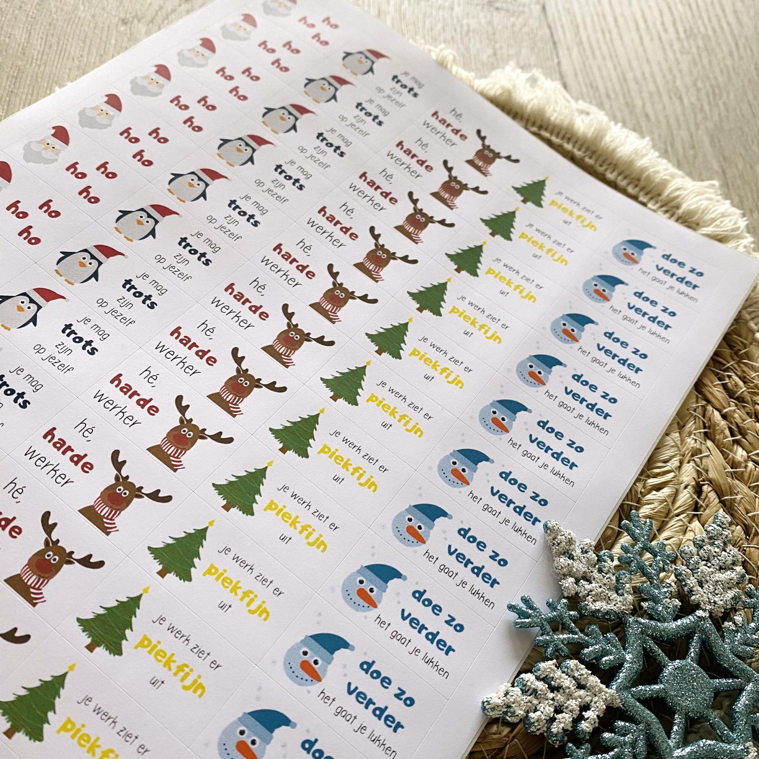 Beloningsstickers kerst