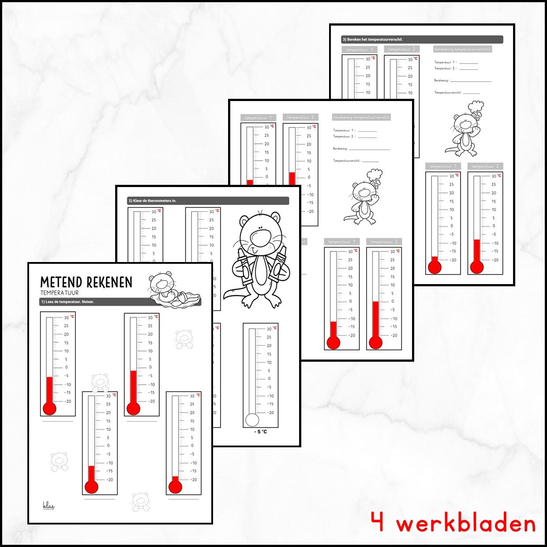 Werkbladen temperatuur
