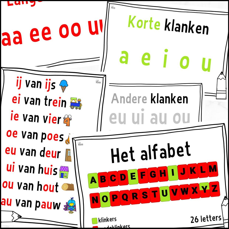 Wandplaten klanken en alfabet
