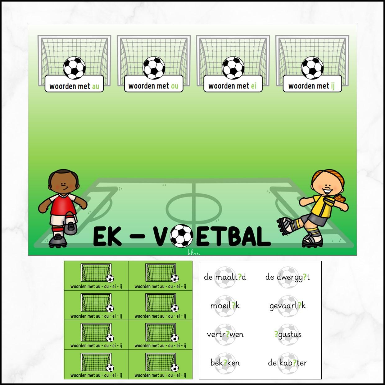 Voetbal – woorden met au-ou-ei-ij